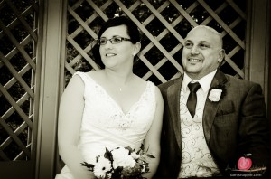 Wedding couple portrait at the Apollo Hotel in Basingstoke, Hampshire