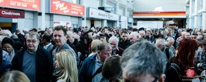 Entrance queue to the Photography Show 2014