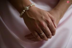 Bride's hands shot with the Nikon D810