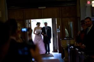 Bride's entrance to church shot with Nikon D810