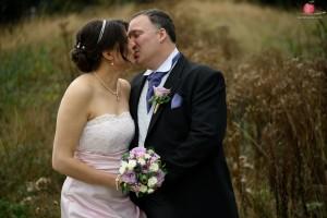 Wedding couple kiss shot with the Nikon D810