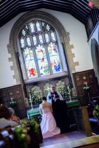 Kingsworthy St Mary's Church wedding shot with Nikon D810