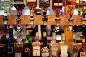 Alcohol bottles shot with Nikon D810