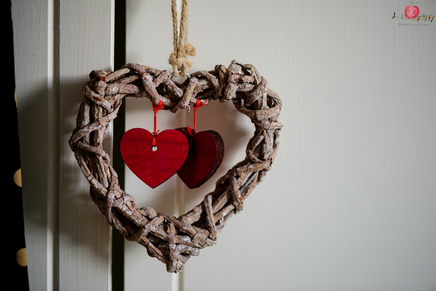 Love heart decoration shot with Nikon D810