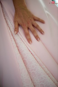 Wedding dress lace detail shot with Nikon D810