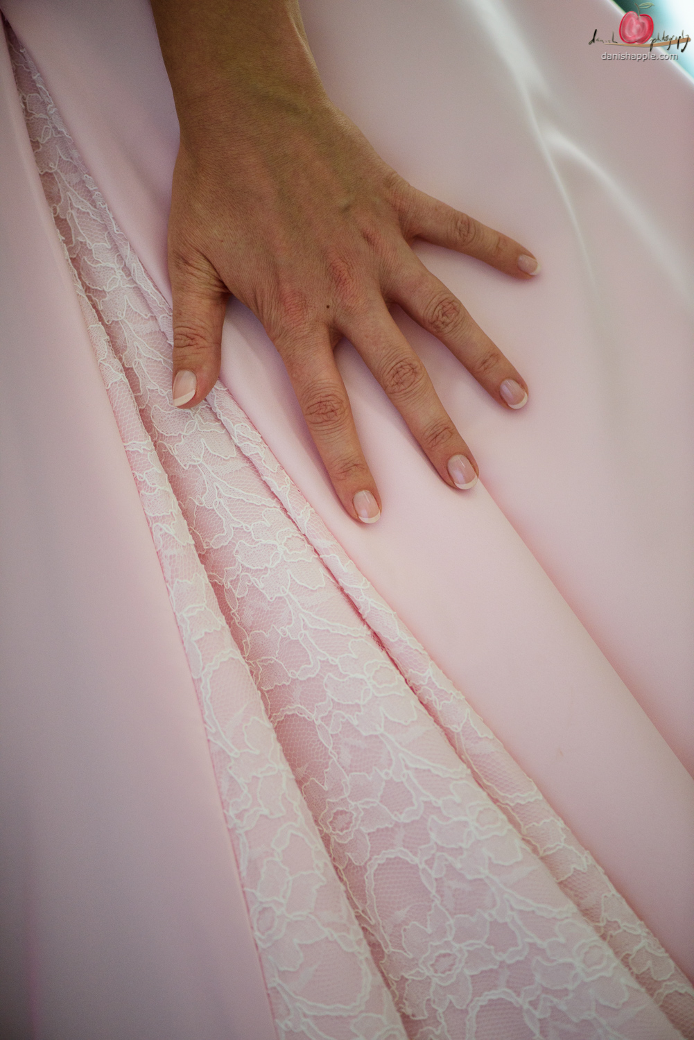 Wedding dress lace detail shot with Nikon D810
