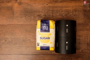 Bag of sugar with Interfit S1 monolight flash unit battery